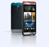 HTC One Mini M4 Double Dip Case Hard Shell Cover Grey & Red / Blue / Black HTC HC C850